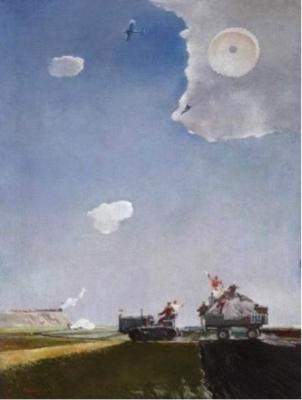 Георгий Григорьевич Нисский. «Прыжок с парашютом». 1935 г. Государственный Русский музей