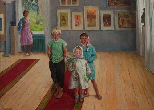 М.Г. Богатырёв «Дети в Вышневолоцкой галерее»