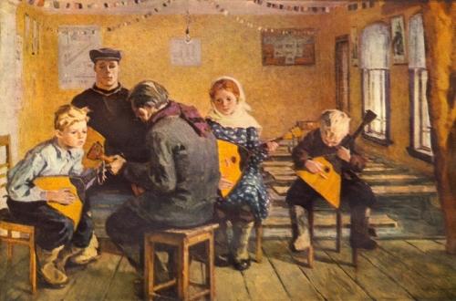 Ирина Шевандронова «Репетиция самодеятельного концерта»  1962 г.