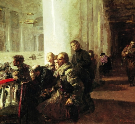 Серебряный И. А. «Концерт Ленинградской филармонии в 1942 году» 1957 г.