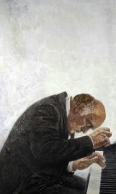 Серебряный И. А. «Портрет Святослава Рихтера» 1972 г.