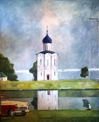 Георгий Григорьевич Нисский  «Церковь Покрова на Нерли» Холст, масло.