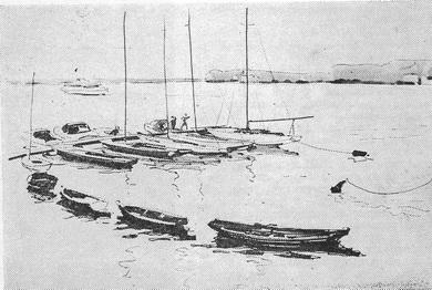 В.Н. Лемешев «Яхт-клуб на Дону» 1975 г.