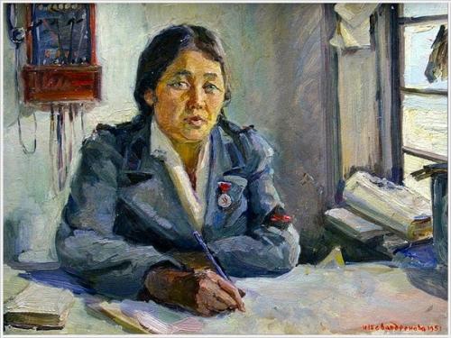 Ирина Шевандронова «Алтайка – телефонистка» 1951 г.