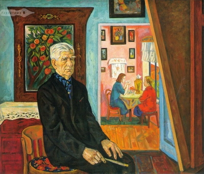 Виктор Ни «Портрет художника Н.М. Ледяева» 1970 г. Холст,масло. Оренбургский областной музей изобразительного искусства