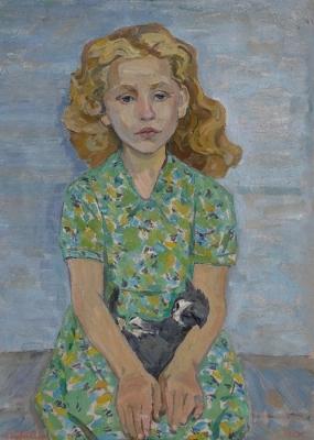 Ирина Шевандронова «Девочка с котёнком»  1965 г.