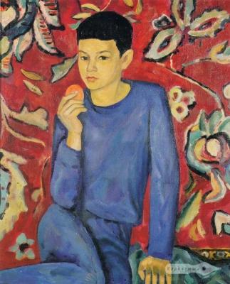 Виктор Ни «Портрет сына» Холст, масло. 60х50 см. 1967 г. На обороте надпись: