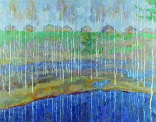 Ефрем Зверьков  «Весенний паводок»  Холст, масло. 80х100 см  1989 г.