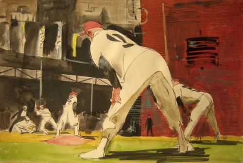 Виталий Горяев. Бейсбол. Из серии «Американцы у себя дома» 1958-1963 гг.