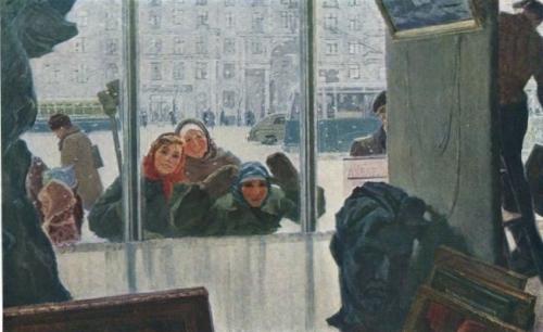Ирина Шевандронова «Выставка скоро откроется»  1959 г.
