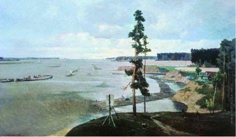 Георгий Григорьевич Нисский  «Верхняя Волга». Государственная Третьяковская галерея. 1949 год