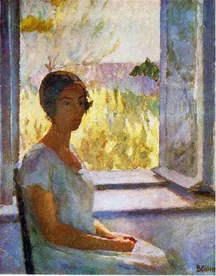 Синицкий В.М. У окна. Портрет жены.1926 г.