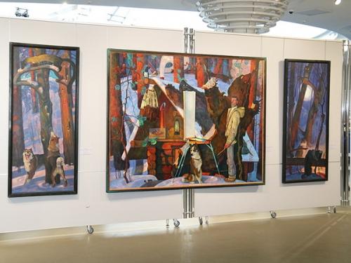 Вячеслав Самарин Триптих «Промысел» (1978—1980) На персональной выставке художника в Смоленске