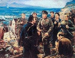 Д. А. Налбандян ««Малая земля. Новороссийск» Холст, масло. 1975 г.