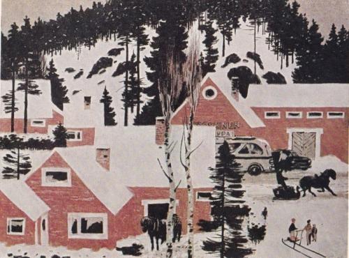 О.Г. Верейский «Сельский пейзаж. Финляндия» 1958 г.