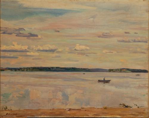 Н.П. Толкунов  «Озеро Белое»  х.м. 55х70 см. 1961 г.