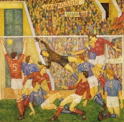 Виктор Ни «Футболисты»  1970-е годы
