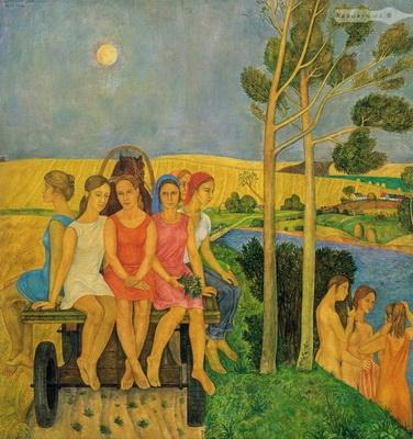 Виктор Ни «Хлеб» 1975 г. Левкас, темпера.