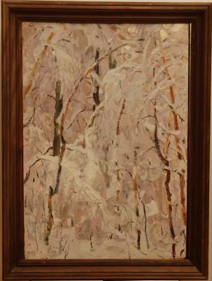 Н.П. Толкунов «Лес в инее» к.м. 70х50 см  1959 г.