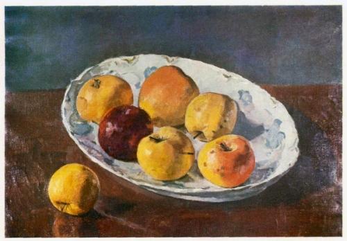 Синицкий В.М. Яблоки на тарелке. 1934 г.