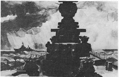 В.Н. Лемешев «Навстречу шторму» 1972 г.