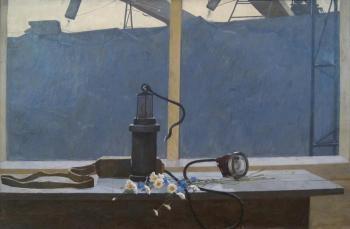 Сергей Тимофеевич Циркин «Ромашки» Xолст, масло. 84х122.5 см 1964 г.  Удмуртский республиканский музей изобразительных искусств.