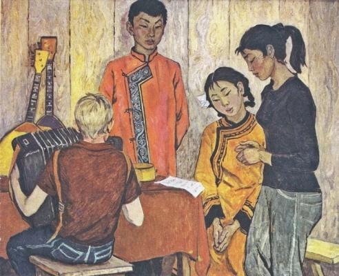 Ирина Шевандронова «Агитационная бригада. Амур.»  1973 г.
