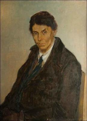 Владимир Малагис «Портрет Е.В. Гейрот» 1943 г. Холст, масло. 70х51 см