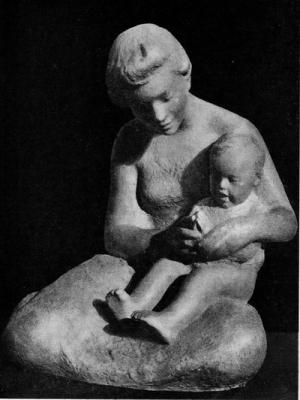 Алексей Криволапов. Ладушки. Терракота. 1963 г.