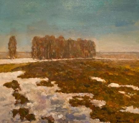 Ефрем Зверьков  «Весна на пашне» Холст, масло. 70х80 см   1978 г.