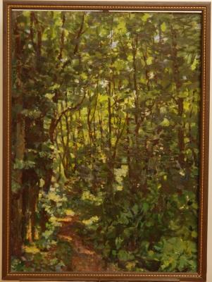 Н.П. Толкунов «Тропинка к реке» к.м.  71.5х54 см. 1975 г.