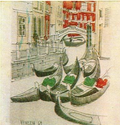 И. Оминин.  Венеция. Зарисовка.