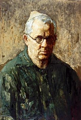 Владимир Малагис «Автопортрет»  1962 г. Картон, масло. 70 х 49,5 см
