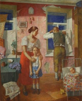 К.С. Петров-Водкин «1919 год. Тревога» холст, масло  1934 год