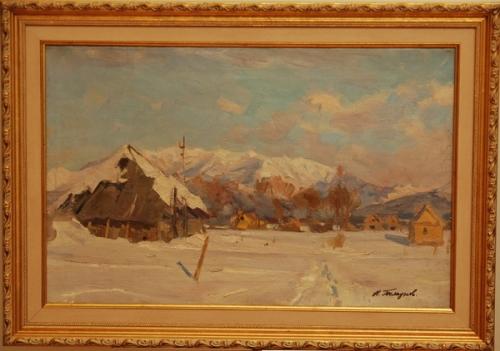 Н.П. Толкунов  «Южный Сахалин» х.м. 39х61 см. 1947 г.