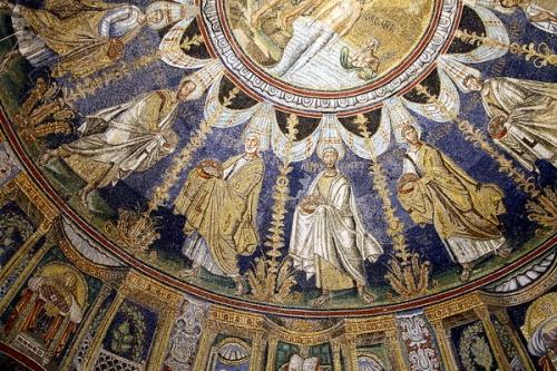 Мозаика с изображением апостолов в православном Баптистерии