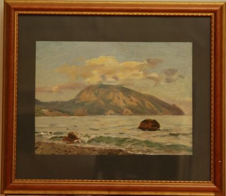 Н.П. Толкунов  «Медведь гора» к.м.  25х34 см. 1952 г.