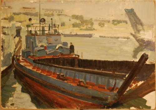 Н.П. Толкунов «Севастополь» к.м.  50х70 см   1960 г.